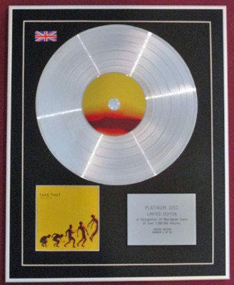 TAKE THAT - Ltd Edition CD Platinum Disc - PROGRESS