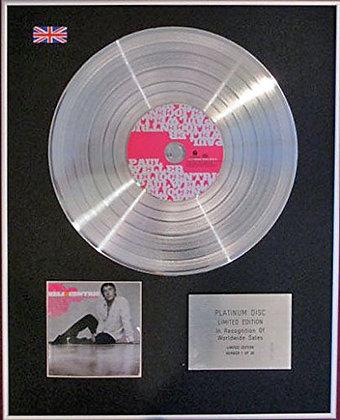PAUL WELLER - CD Platinum Disc- HELIOCENTRIC