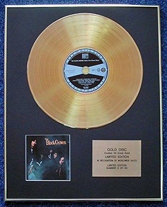 The Black Crowes - LTD Edition CD 24 Carat Gold Coated LP Disc - Shake Your…