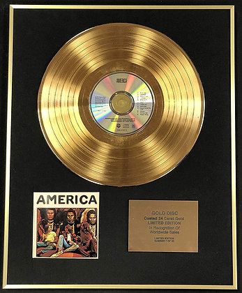 erica - Exclusive Limited Edition 24 Carat Gold Disc - America