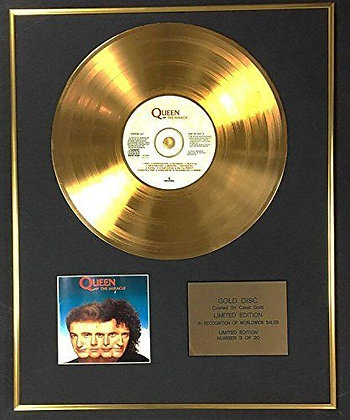 Queen - Exclusive Limited Edition 24 Carat Gold Disc - The Miracle