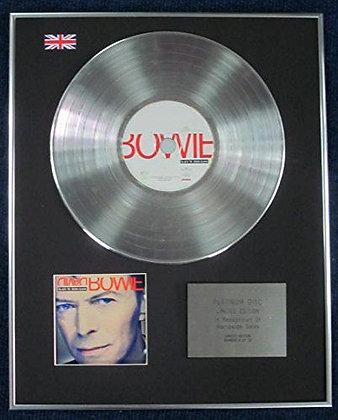 DAVID BOWIE - Limited Edition CD Platinum LP Disc - BLACK TIE WHITE NOISE