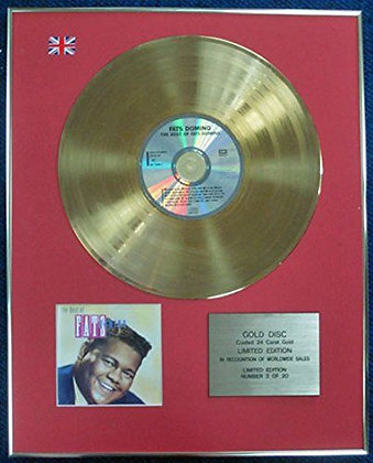 Fats Domino - Limited Edition CD 24 Carat Gold Coated LP Disc - The best of Fats