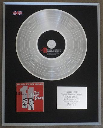 FRANK SINATRA-DEAN MARTIN-SAMMY DAVIS - Limited Edition CD Platinum Disc - THE R