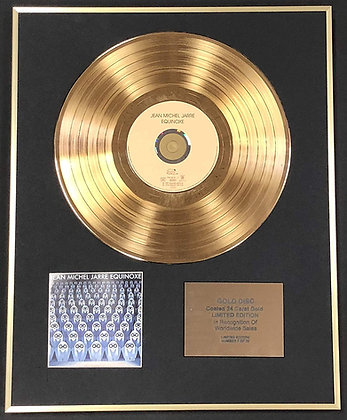 Jean Michel Jarre - Exclusive Limited Edition 24 Carat Gold Disc - Equinoxe