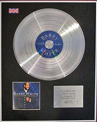 BARRY WHITE - CD Platinum Disc - THE ULTIMATE COLLECTION