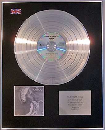 GROUNDHOGS - Limited Edition CD Platinum Disc - SPLIT