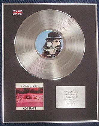 Frank Zappa- Limited Edition CD Platinum LP Disc - Hot Rats