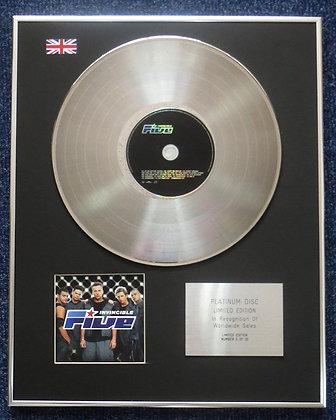 Five - Limited Edition CD Platinum LP Disc - Invincible