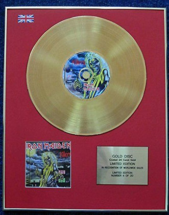 Iron Maiden - Limited Edition CD 24 Carat Gold Coated LP Disc - Killers