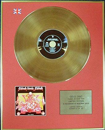 BLACK SABBATH - Ltd Edition CD 24 Carat Coated Gold Disc - SABBATH BLOODY?