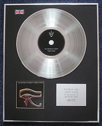 Sisters of Mercy - Limited Edition CD Platinum LP Disc - Vision Thing