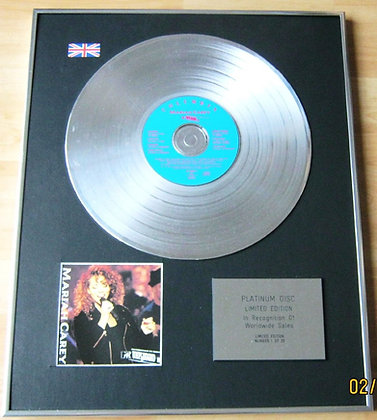 MARIAH CAREY - CD Platinum Disc - UNPLUGGED
