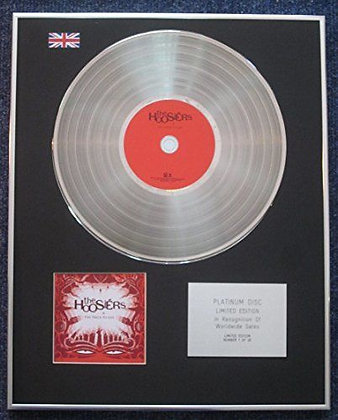 The Hoosiers - Limited Edition CD Platinum LP Disc - The Trick To Life
