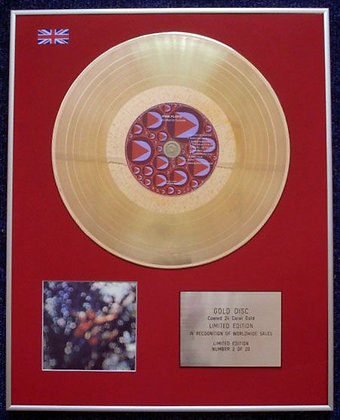 PINK FLOYD - CD 24 Carat Gold Coated LP Disc - OBSCURED BY CLOUDS