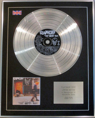 RANCID - Limited Edition CD Platinum Disc - LIFE WON'T WAIT