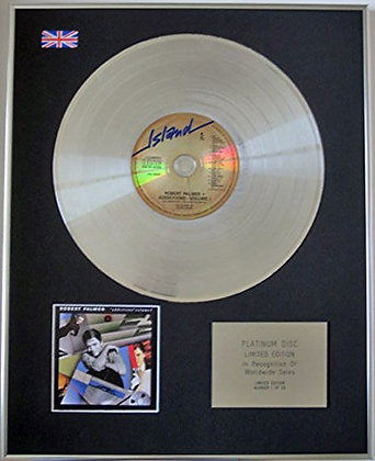 ROBERT PALMER - CD Platinum Disc - ADDICTIONS