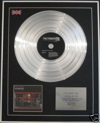 THE STREETS - Platinum Disc-GRAND DONT COME FOR FREE