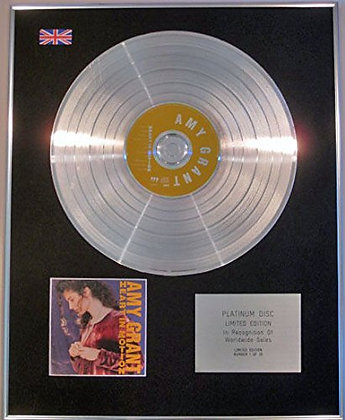 AMY GRANT - Limited CD Platinum Disc - HEART IN MOTION