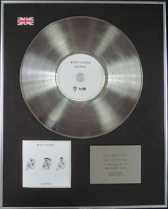 BIFFY CLYRO - Limited Edition CD Platinum Disc - ELLIPSES