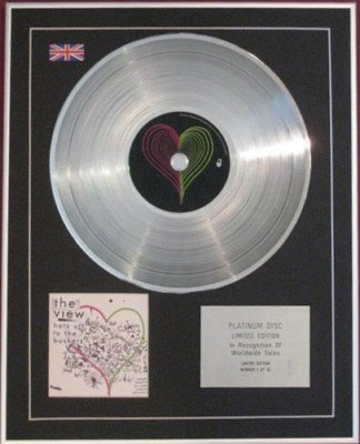 THE VIEW - CD Platinum Disc - HATS OFF TO THE BUSKERS