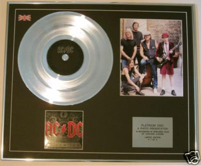 AC/DC - Ltd Edt CD Platinum Disc + Photo - BLACK ICE
