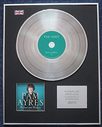 Pam Ayres - Limited Edition CD Platinum LP Disc - Pam Ayres