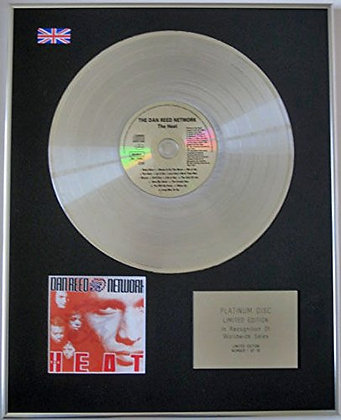 DAN REED NETWORK - Limited Edition CD Platinum Disc - THE HEAT