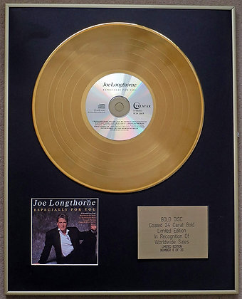 Joe Longthorne - Exclusive Limited Edition 24 Carat Gold Disc - Specially for yo
