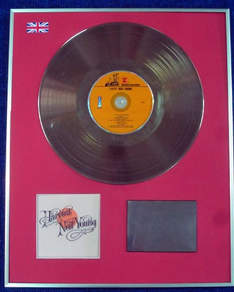 NEIL YOUNG - Limited Edition CD 24 Carat Gold Coated LP Disc - HARVEST