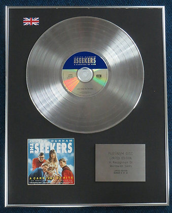 Judith Durham & Seekers - Limited Edition CD Platinum LP Disc -Carnival of hits