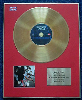 Hollywood Undead - Limited Edition CD 24 Carat Gold Coated LP Disc - V