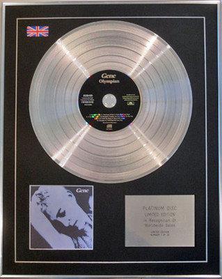 GENE  - Ltd Edition CD Platinum Disc - OLYMPIAN