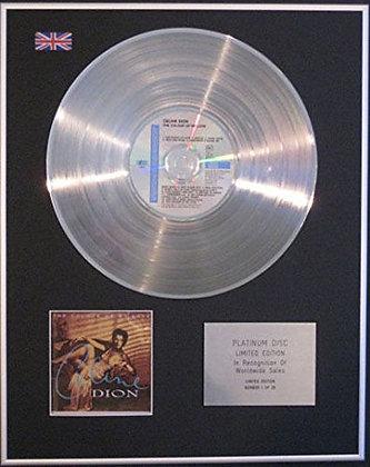 CELINE DION - CD Platinum Disc - THE COLOUR OF MY LOVE