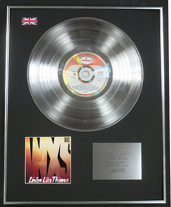 INXS - Limited Edition CD Platinum LP Disc - LISTEN LIKE THIEVES