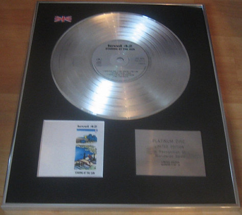 LEVEL 42 - CD Platinum Disc - STARING AT THE SUN