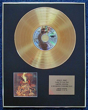 Sepultura. - Limited Edition CD 24 Carat Gold Coated LP Disc - Arise