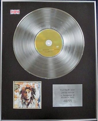 BOB MARLEY - Limited Edition CD Platinum Disc - ONE LOVE (THE VERY BEST OF)
