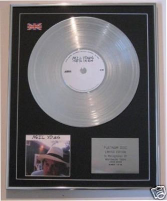 NEIL YOUNG - CD Platinum Disc- FORK IN THE ROAD