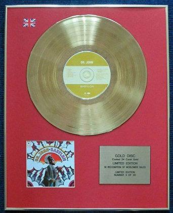 Dr John - Limited Edition CD 24 Carat Gold Coated LP Disc - Babylon