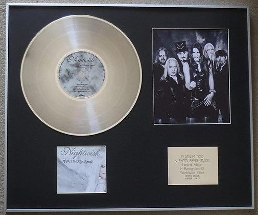 NIGHTWISH - Platinum Disc CD Single + Photo - WISH I HAD AN ANGEL