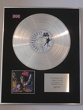 ALICE COOPER - Ltd Edition Platinum Disc - HEY STOOPID