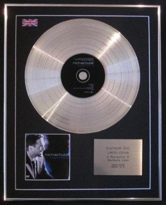 MICHAEL BUBLE' -Ltd CD Platinum Disc-CAUGHT IN THE ACT