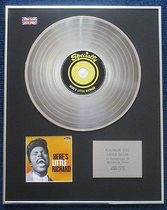 Little Richard - Limited Edition CD Platinum LP Disc - Here's little Richard