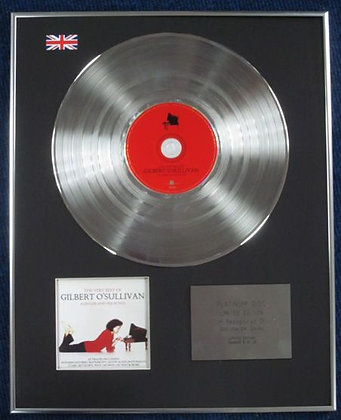 GILBERT O'SULLIVAN - Limited Edition CD Platinum Disc - THE VERY BEST OF