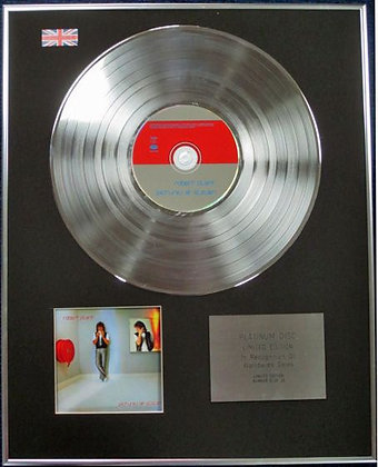 ROBERT PLANT - Limited Edition CD Platinum Disc - PICTURES AT ELEVEN