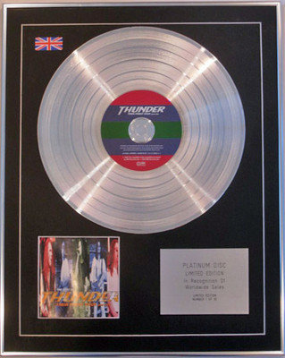 THUNDER - Limited Edition CD Platinum Disc - THEIR FINEST HOUR (Best of)