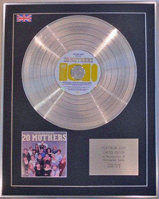 JULIAN COPE - Limited Edition CD Platinum Disc - PRESENTS 20 MOTHERS