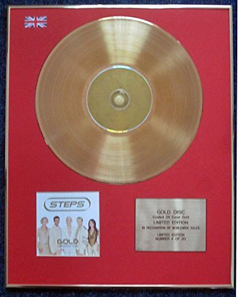 Steps - Limited Edition CD 24 Carat Gold Coated LP Disc - Gold
