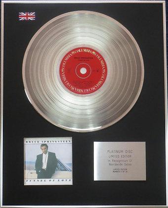 BRUCE SPRINGSTEEN - Platinum Disc -TUNNEL OF LOVE